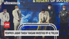 VIDEO: Pemprov Jabar Tanda Tangani Investasi Rp 41 Triliun