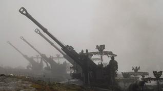 FOTO: Taktik India Perkuat Benteng Perbatasan di Kashmir