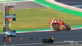 VIDEO: Marquez Terpuruk di FP2 MotoGP Emilia Romagna