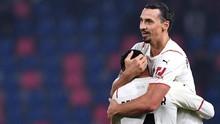 Milan Tekuk Bologna 4-2, Ibrahimovic Cetak 'Dua' Gol