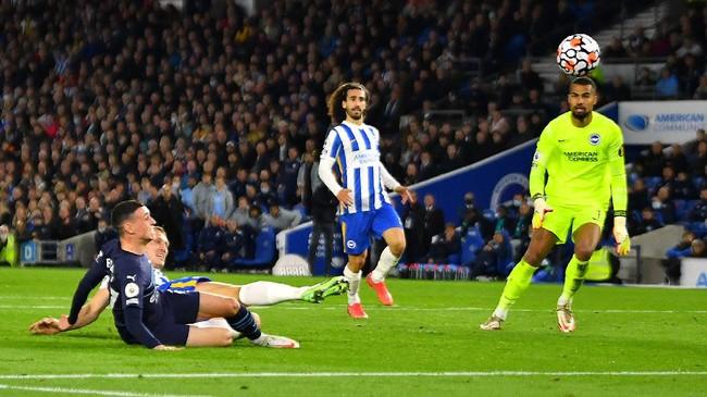 Hasil Liga Inggris: Man City Kalahkan Brighton 4-1