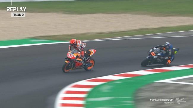VIDEO: Momen Marquez Nyaris Jatuh di MotoGP Emilia Romagna