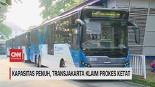 VIDEO: Kapasitas Penuh, Transjakarta Klaim Prokes Ketat