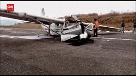 VIDEO: Pesawat Cargo Tabrak Landasan, Pilot Tewas