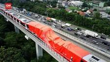 VIDEO: Penampakan LRT Jabodebek Pasca Kecelakaan dari Udara