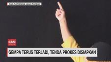 VIDEO: Guncangan Gempa Terus Terjadi di Semarang