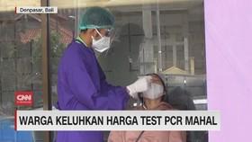 VIDEO: Warga Keluhkan Harga Test PCR Mahal