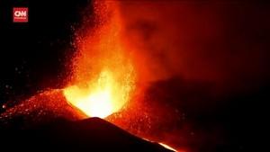 VIDEO: Detik-detik Gunung Cumbre Vieja Memuntahkan Lava