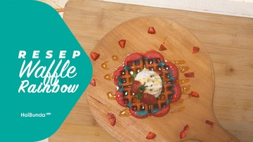 Resep Waffle Rainbow