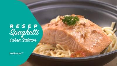Resep Spaghetti Laksa Salmon