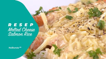 Resep Melted Cheese Salmon Rice