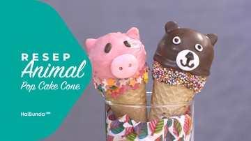 Resep Animal Pop Cake Cone