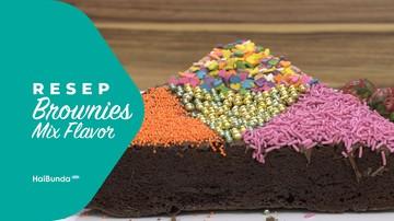 Resep Brownies Mix Flavor