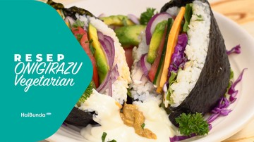 Resep Onigirazu Vegetarian