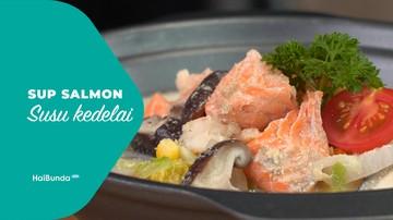 Sup Salmon Susu Kedelai
