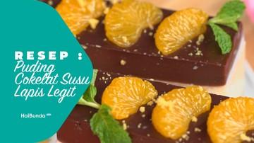 Resep Puding Cokelat Susu Lapis Legit