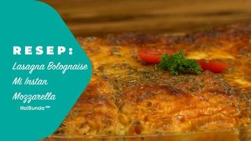 Resep Lasagna Bolognaise Mi Instan Mozzarella