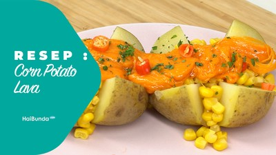 Resep Corn Potato Lava