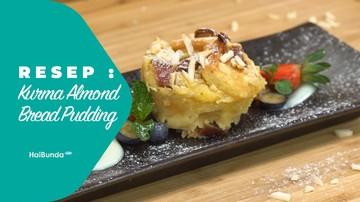 Resep Kurma Almond Bread Puding
