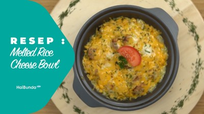 Resep Melted Rice Cheese Bowl
