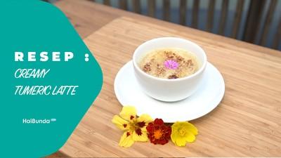 Resep Creamy Tumeric Latte