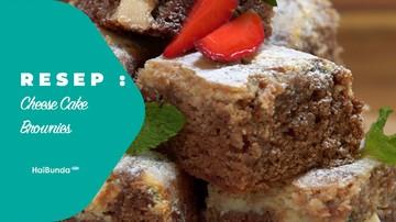 Resep Cheese Cake Brownies