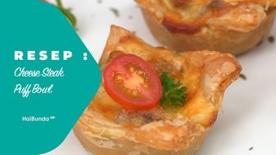 Resep Cheese Steak Puff Bowl