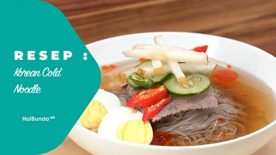Resep Korean Cold Noodle