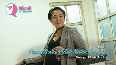 Hamil, Poppy Sovia Malah Makin Senang dengan Musik Punk