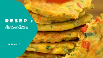 Resep Rainbow Fritters