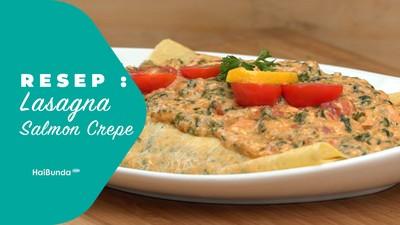 Resep Lasagna Salmon Crepe